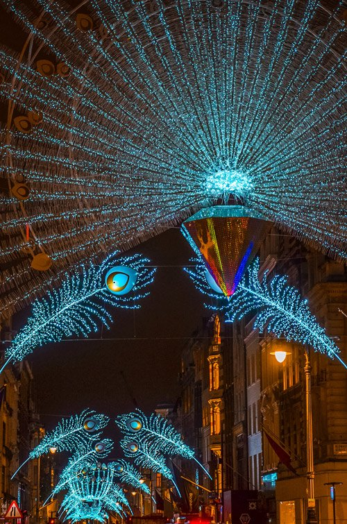London Christmas Lights at Bond Street