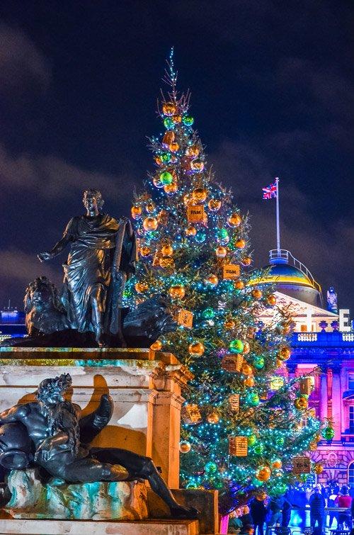 London Christmas Lights at Somerset House