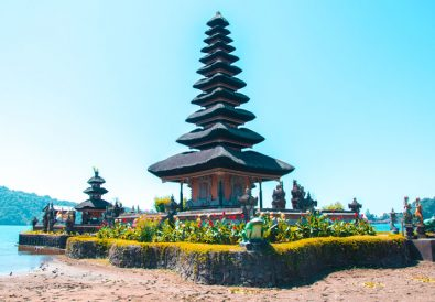 The Bali Floating Temple on dry land