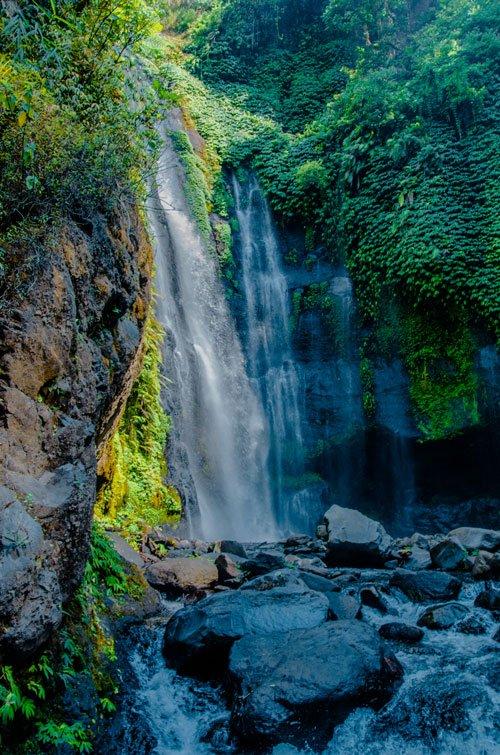 Fiji waterfall near Sekumpul Waterfall