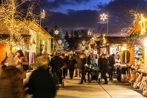 Adventmarkt in the Blumengärten Hirschstetten
