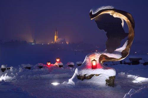 Oberndorf, Austria at Christmas