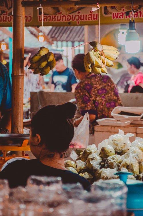 Female vendor at Khlong Lat Mayom Floating Market in Bangkok