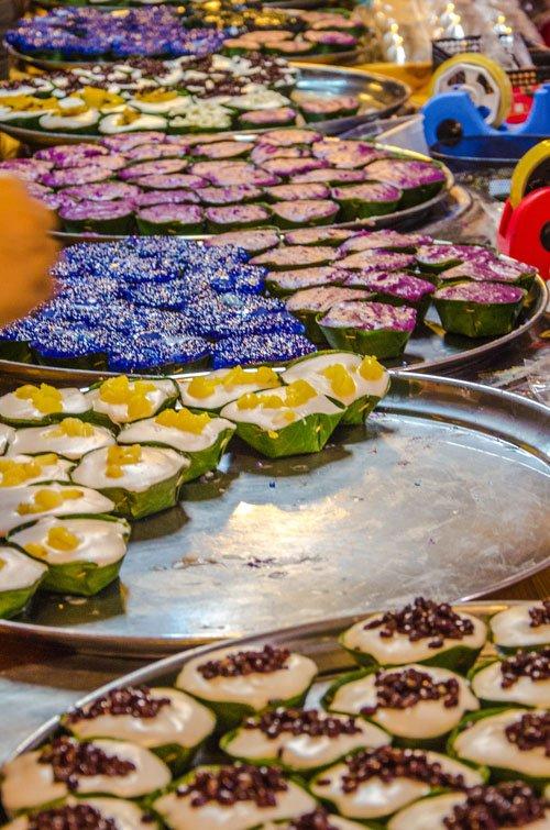 Sweets at Khlong Lat Mayom Floating Market in Bangkok