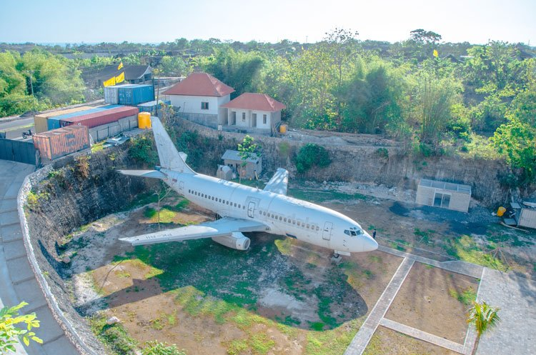 Abandoned plane in Uluwatu