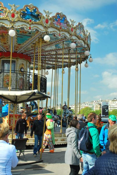 carousel at sein, paris, france