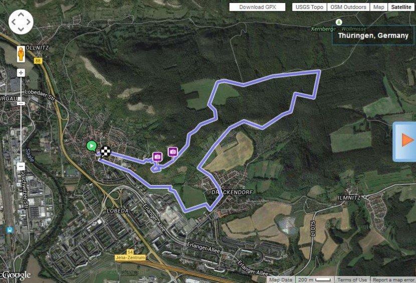 Lobdeburg to summer linden tree hiking tail