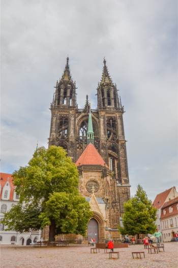 the Cathedral at Albrechtsburg Castle near Dresden, Germany