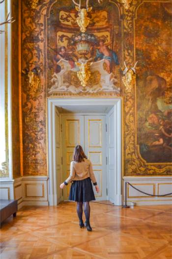 lavish rooms at Moritzburg Castle, Germany