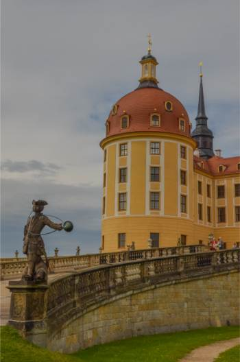 Moritzburg Castle near Dresden seen from up close