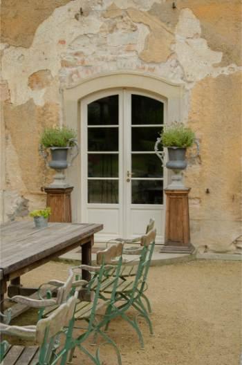 door at Fasanenschlösschen Castle near Moritzburg, Saxony, Germany