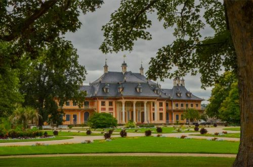 gardens of Castle Pillnitz near Dresden, Germany