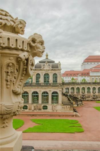 inside the Zwinger in Dresden