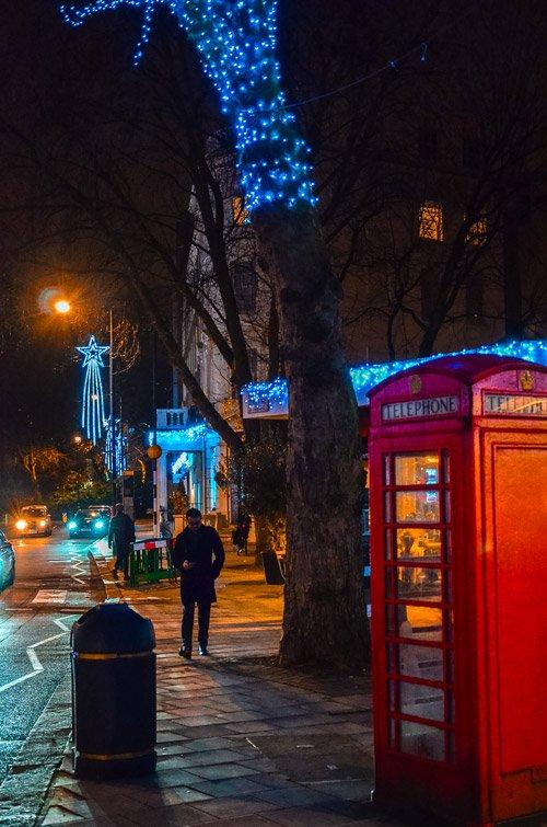 London Christmas Lights at Hyde Park Place Christmas Lights
