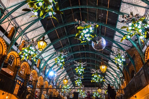London Christmas Lights at Covent Garden