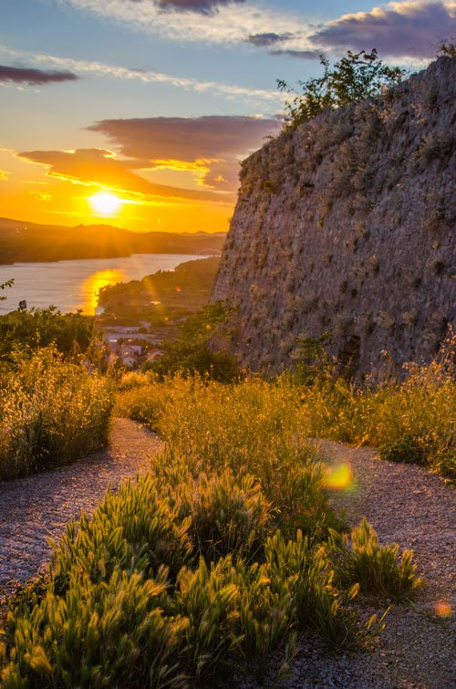 Sunset in Croatia - from Sibenik castle