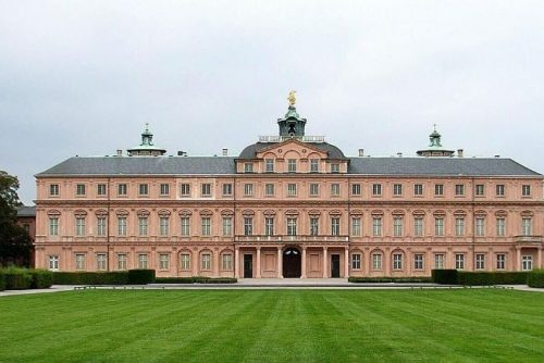Residenzschloss Rastatt seen from the front lawn, Germany