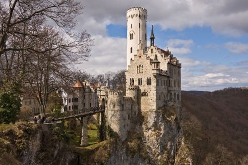 Castle Lichtenstein seen from afar, Germany