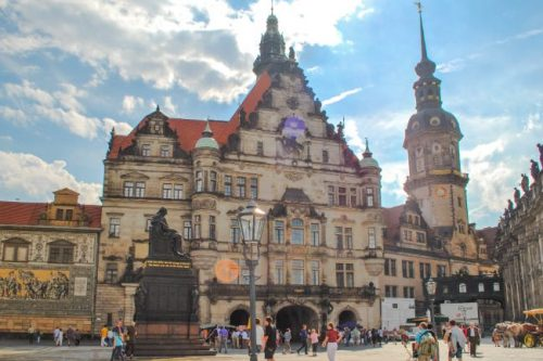 Dresden Palace seen from the Zwinger, Germany