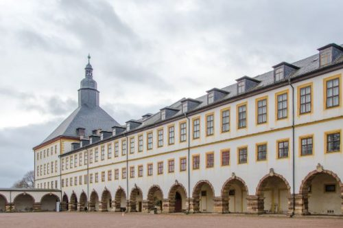 Gotha Palace seen from the inner courtyard, Germany
