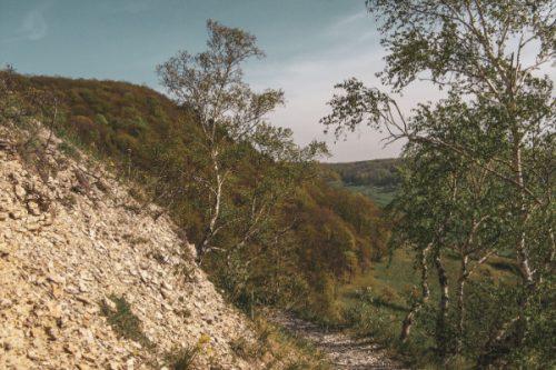 View from Hufeisen onto Kunitz - Jena, Germany hiking