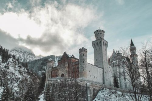 Neuschwanstein Castle in Bavaria in winter