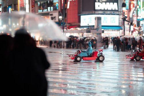 Mario Kart race in Tokyo, Japan