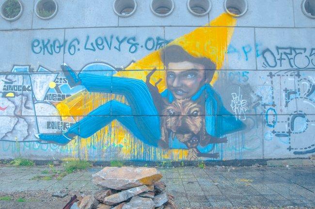 Buzludzha Monument graffiti