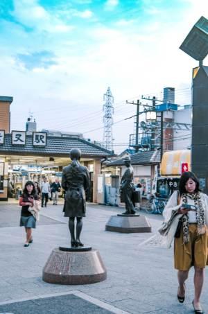 statue of Tora-san in Shibamata in Tokyo