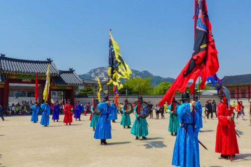 Gyeongbokgung Palace during guard change