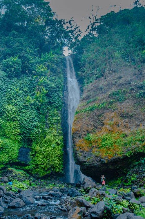 High waterfall near sekumpul falls