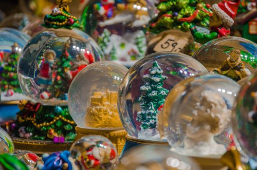 Christmas snow globes in Austria