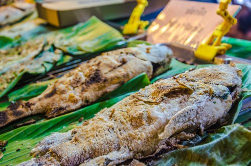 Salted fish at Khlong Lat Mayom Floating Market in Bangkok