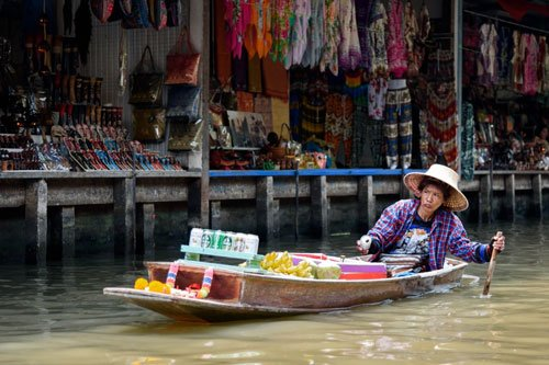 Flatong Market near Bangkok