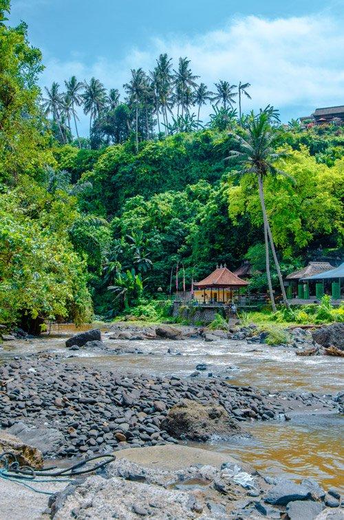 Tegenungan Waterfall (Blangsinga Waterfall) from river below