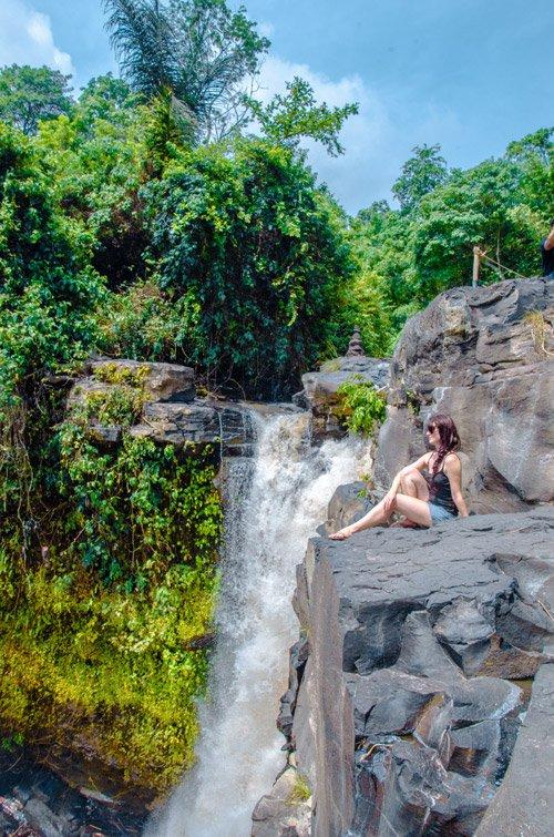 Tegenungan Waterfall (Blangsinga Waterfall) from the edge