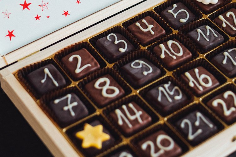 Chocolate christmas calendar