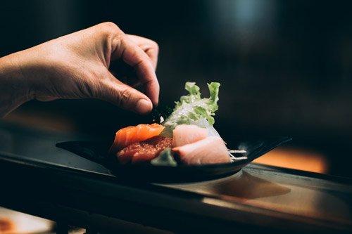 sushi dish in Japan