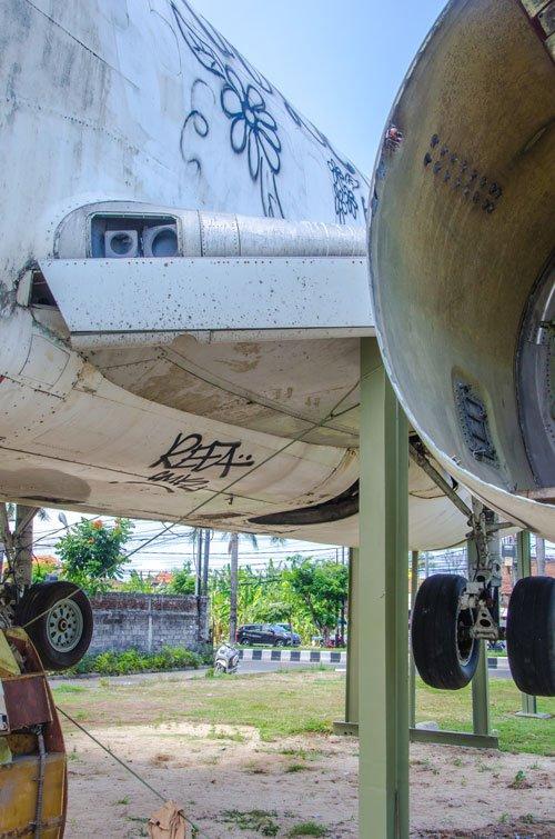 Abandoned plane in Kuta