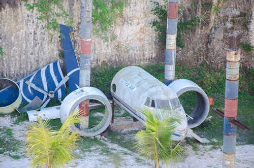 Abandoned plane in Uluwatu