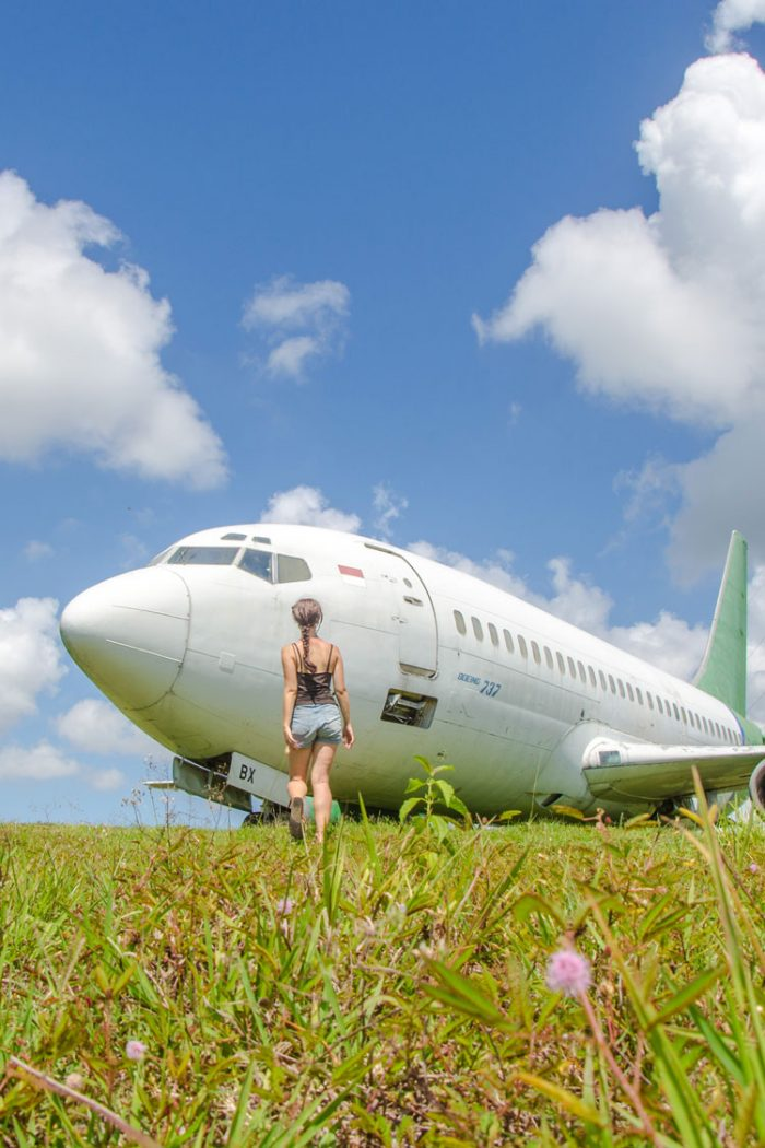 Where to See an Abandoned Plane in Bali + Free Map Download