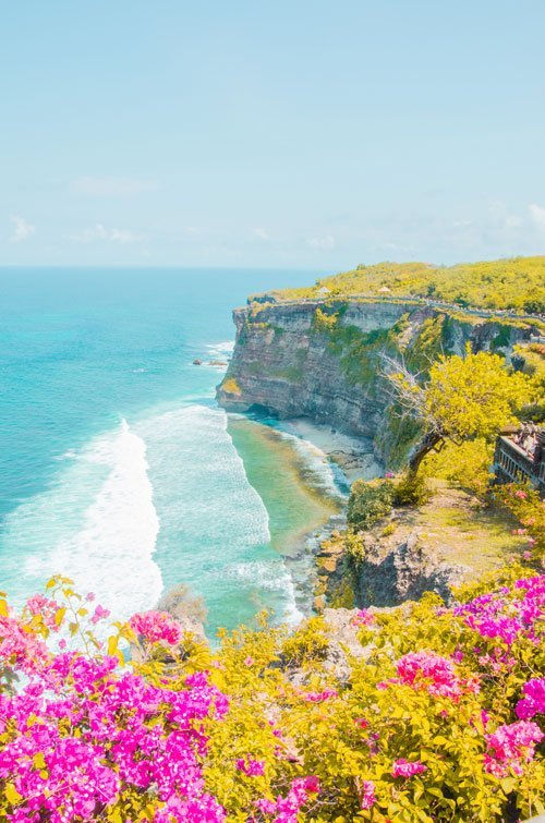 Uluwatu cliff