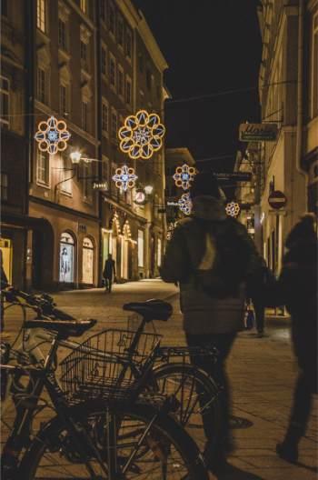 Salzburg Christmas street decoration