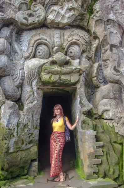 Entrance of Goa Gajah Cave