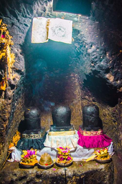 Inside Goa Gajah Cave