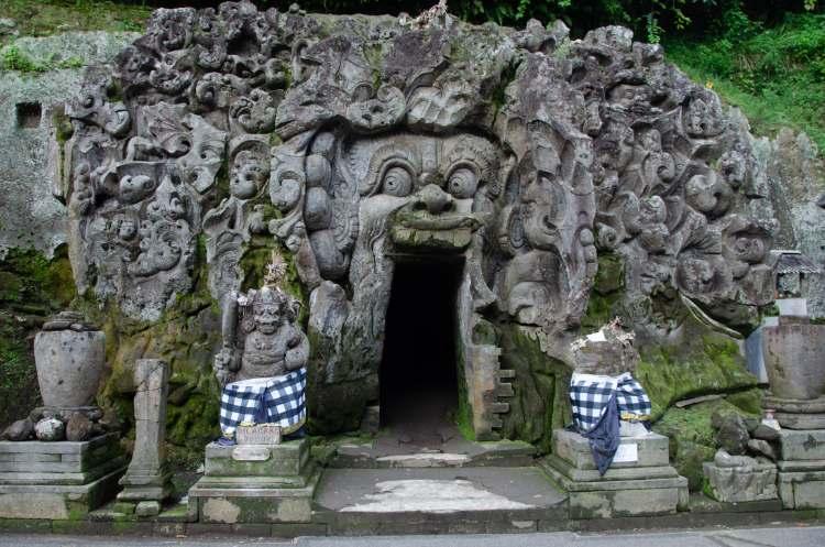 Goa Gajah Elephant Cave entrance near Ubud