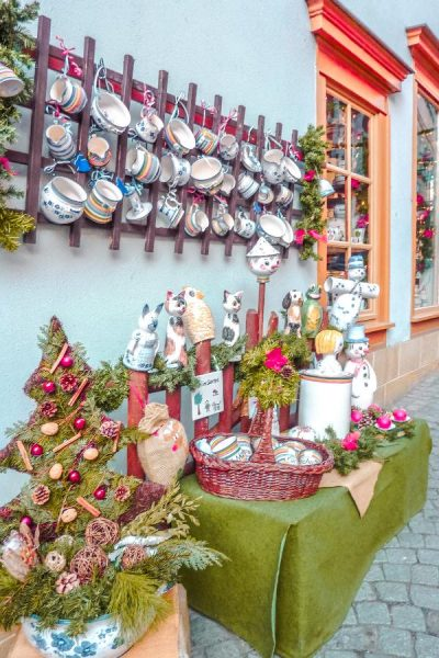Pottery shop during Christmas in Thuringia