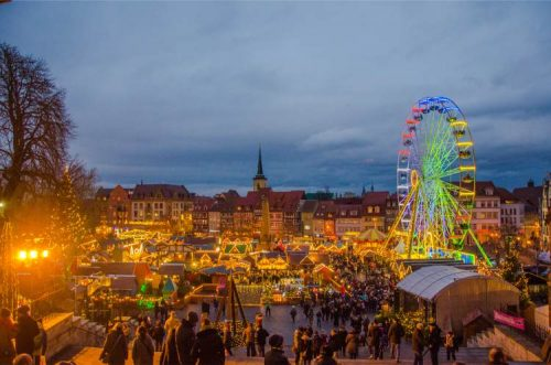 Erfurt Christmas Market at night