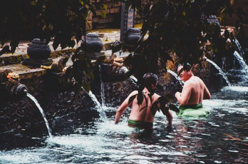 male bathing pool at Pura Tirta Empul