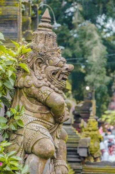 statue at Pura Tirta Empul